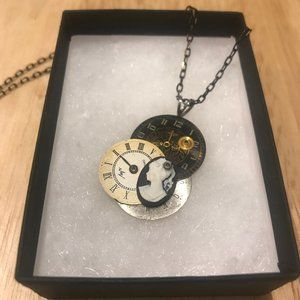 Steampunk Clock Necklace Pendant